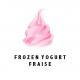 Frozen yogurt strawberry
